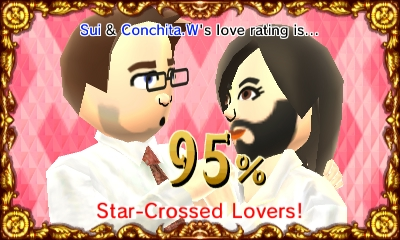 Check out your Mii's compatability rating